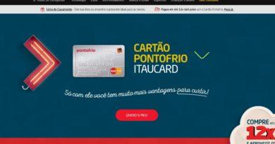 Cartão PontoCard – Cartão de Crédito do Ponto Frio